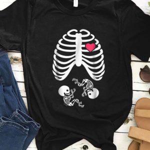 Hot Halloween X-Ray Pregnancy Expecting Twins Babies shirt