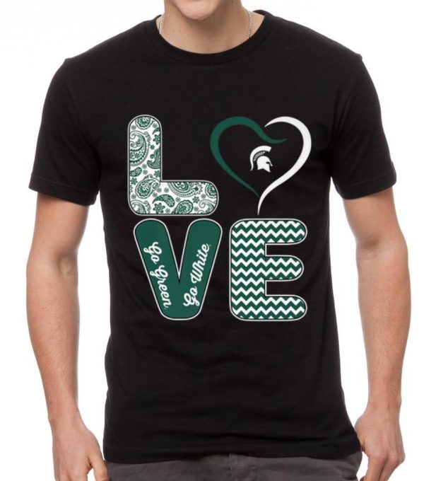 Hot Michigan State Spartans Stacked Love shirt