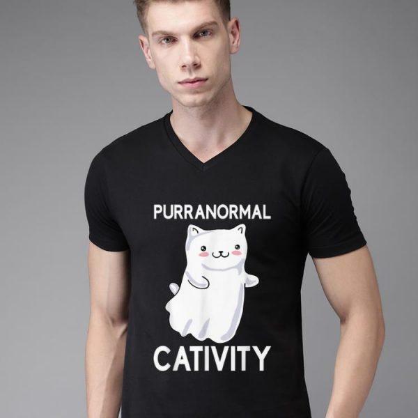 Hot Purranormal Cativity Ghost Halloween Cat Lovers shirt