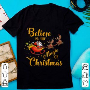 Hot Santa Claus Believer Believe In Christmas Season Xmas Party shirt