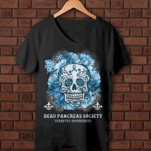 Hot Sugar Skull Dead Pancreas Society Diabetes Awareness shirt