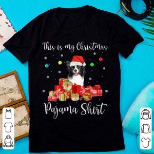 Hot This is My Christmas Pajama Santa Border Collie Dog shirt