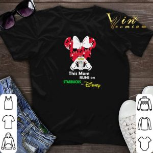 Mickey and Minnie mouse this mom runs on Starbucks and Disney shirt sweater