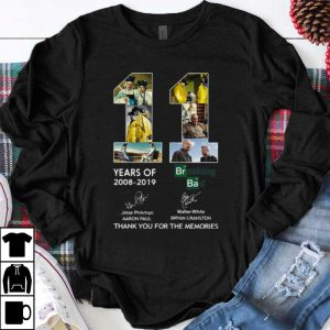 Nice 11 Years Of Breaking Bad Signatures Thank You For The Memories shirt