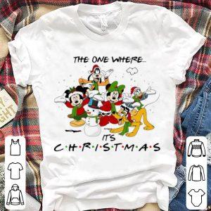 Nice Disney Cartoon Characters The One Where It's Christmas shirt