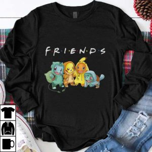 Nice Pikachu Bulbasaur Charmander Uzi Pokemon Friends TV Show shirt