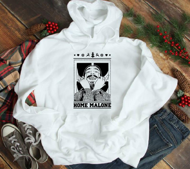 Nice Post Malone Home Malone Ugly Christmas Shirt, Hoodie