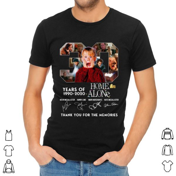 Official 30 Years Of Home Alone Thank You For The Memories Signature shirt