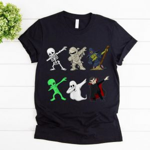 Official Dabbing Skeleton And Monsters Halloween Boys Girl Kids shirt