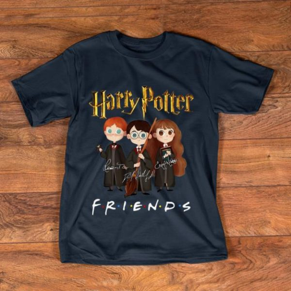 Official Harry Potter Friends Signatures Harry Ron And Hermione shirt