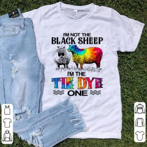 Official I'm Not The Black Sheep I'm The Tie Dye One shirt