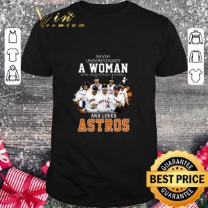 Official Never underestimate a woman who understands baseball Astros shirt
