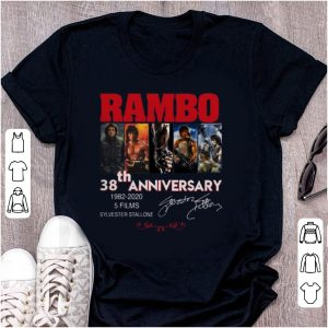 Official Rambo 38 Years 1982-2020 5 Films Signatures shirt