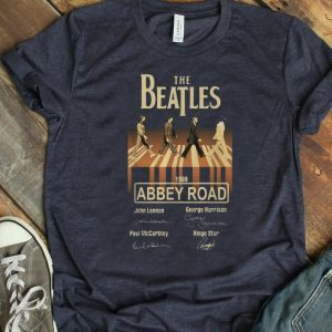 Official The Beatles 1969 Abbey Road Signatures shirt