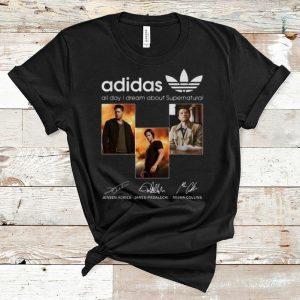 Original Adidas All Day I Dream About Supernatural Signatures shirt