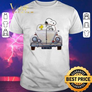 Original Snoopy and woodstock driving Volkswagen Beetle shirt sweater