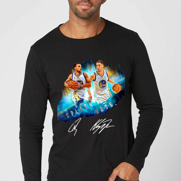 Original Super Splash Bros Klay Thompson Stephen Curry signature shirt 4 - Original Super Splash Bros Klay Thompson Stephen Curry signature shirt