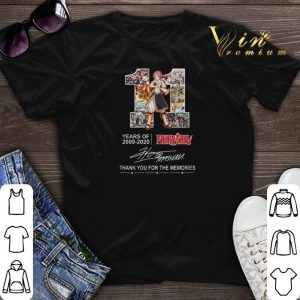Original Thank you for the memories 11 Years of Fairy Tail 2009-2020 shirt