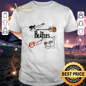 Original The Beatles Guitars Instrument Signatures shirt