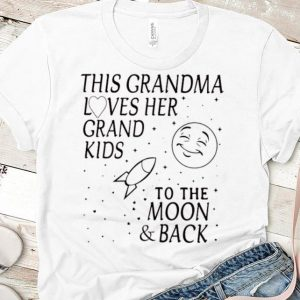 Original This Grandma Loves Her Grand Kids To The Moon And Back shirt
