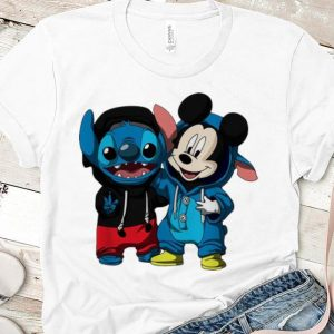 Premium Baby Stitch And Mickey Mouse shirt