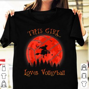 Premium This girl loves Volleyball Halloween Witch lover gift shirt