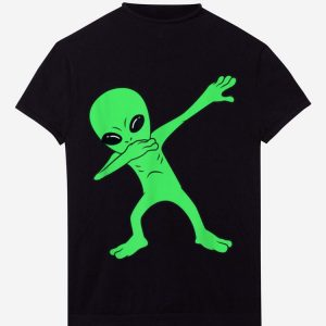 Pretty Dabbing Alien Halloween Funny Dab Boys Kids Girl shirt