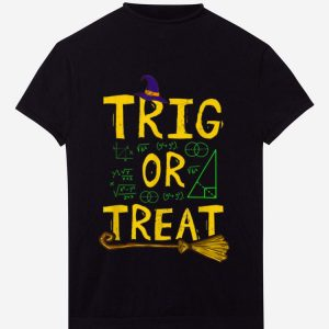 Pretty Halloween Math Teacher Trig Or Treat Student School College shirt