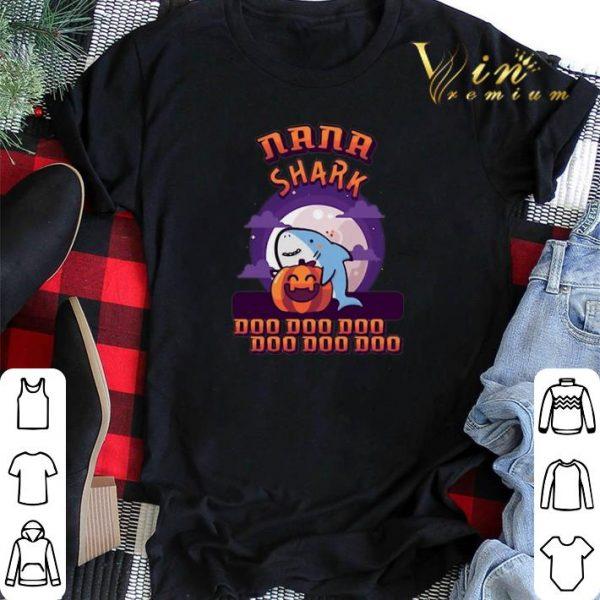 Pumpkin Halloween Nana shark doo doo doo shirt