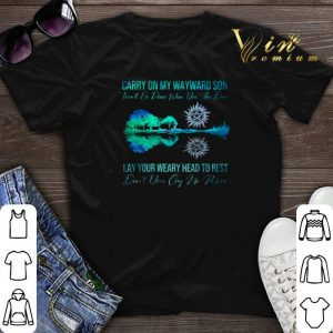 Supernatural carry on my wayward son lay your weary guitar lake shirt sweater
