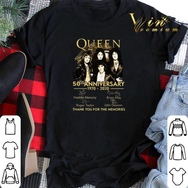 Thank you for the memories Queen 50th anniversary 1970-2020 shirt