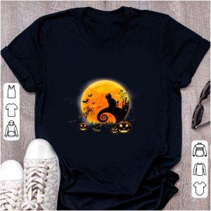 Top Black Cat Pumpkin Moon Nightmare Before Christmas shirt