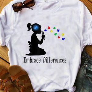 Top Embrace Differences Puzzle Autism Awareness shirt