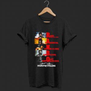 Top Rambo all season Sylvester Stallone signature shirt