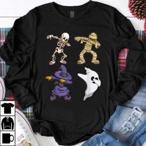 Top Skeleton Halloween Dabbing Squad Horror For Men Gifts shirt