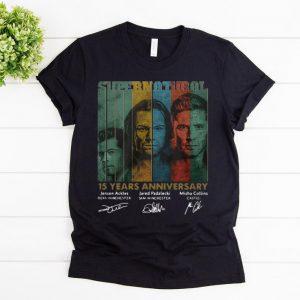 Top Supernatural 15 Years Anniversary Signature Vintage shirt