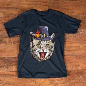 Top Thanksgiving for boys kids Men Cat Pilgrim Costume shirt