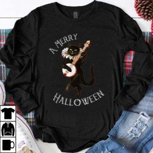 Top Vintage Black Cat Halloween Mens Womens shirt