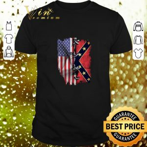 Awesome American flag and Mississippi flag shirt