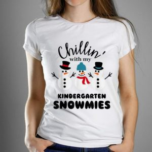 Awesome Christmas Chillin' With My Kindergarten Snowmies shirt