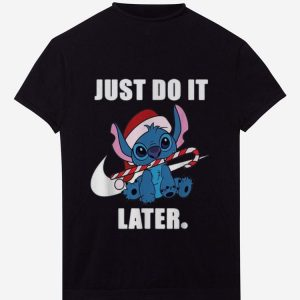 Awesome Christmas Nike Stitch Just Do It Later shirt