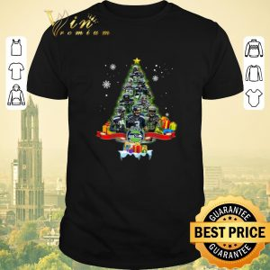Awesome Christmas tree Seattle Seahawks player signatures shirt