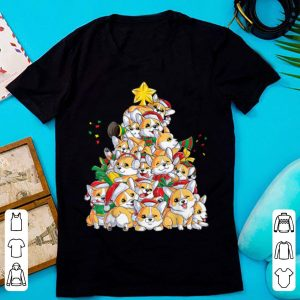 Awesome Corgi Christmas Tree Dog Santa Merry Corgmas Xmas Gifts Boys shirt