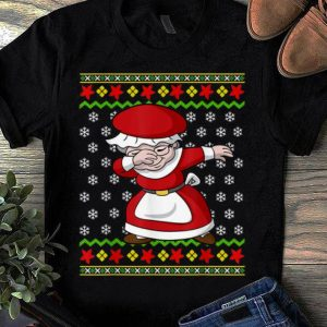 Awesome Dabbing Mrs Claus Ugly Christmas Pattern Girl Women Gift shirt