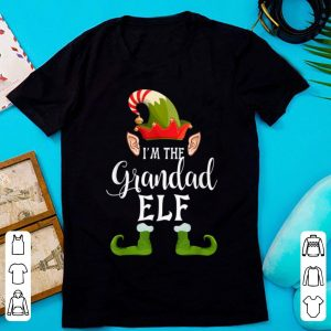 Awesome I'm The Grandad Elf Matching Family shirt