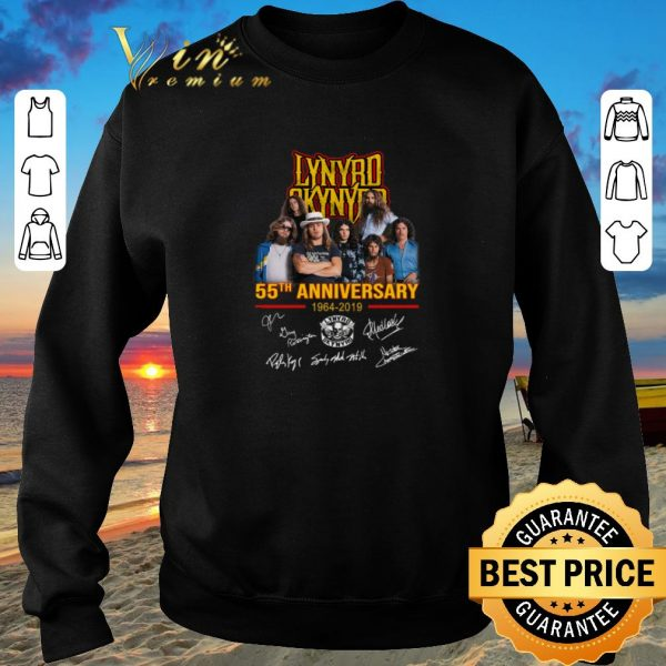 Awesome Lynyrd Skynyrd 55th anniversary 1964-2019 signatures shirt sweater 2019