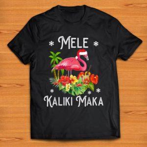 Awesome Mele Kalikimaka Flamingo Merry Christmas shirt