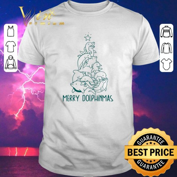 Awesome Merry Dolphinmas Christmas tree shirt sweater