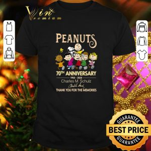 Awesome Peanuts 70th Anniversary 1950 2020 thank you for the memories shirt