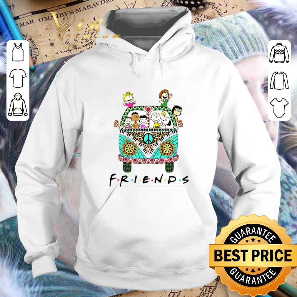 Awesome Peanuts Friends with Hippie bus shirt 4 1 - Awesome Peanuts Friends with Hippie bus shirt